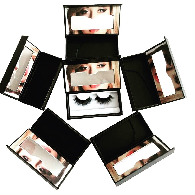 packages of mink fur quality eyelashes