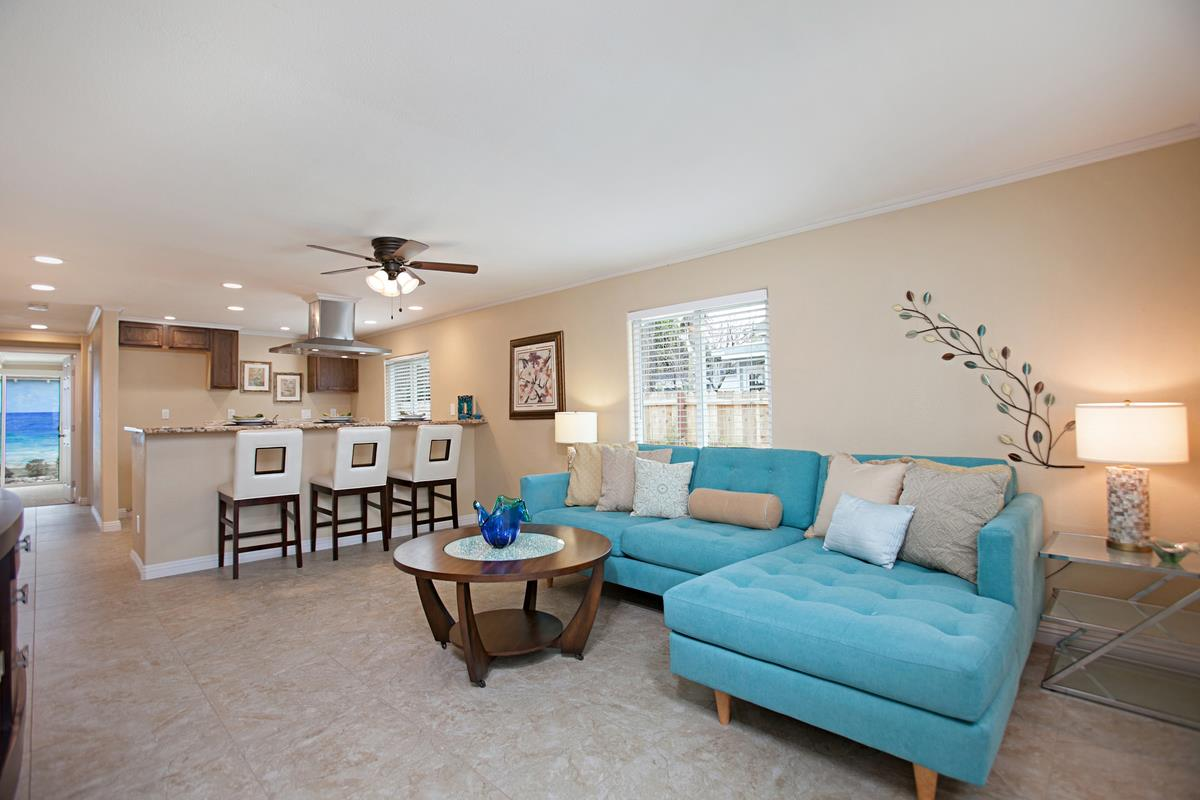 staged homes living room