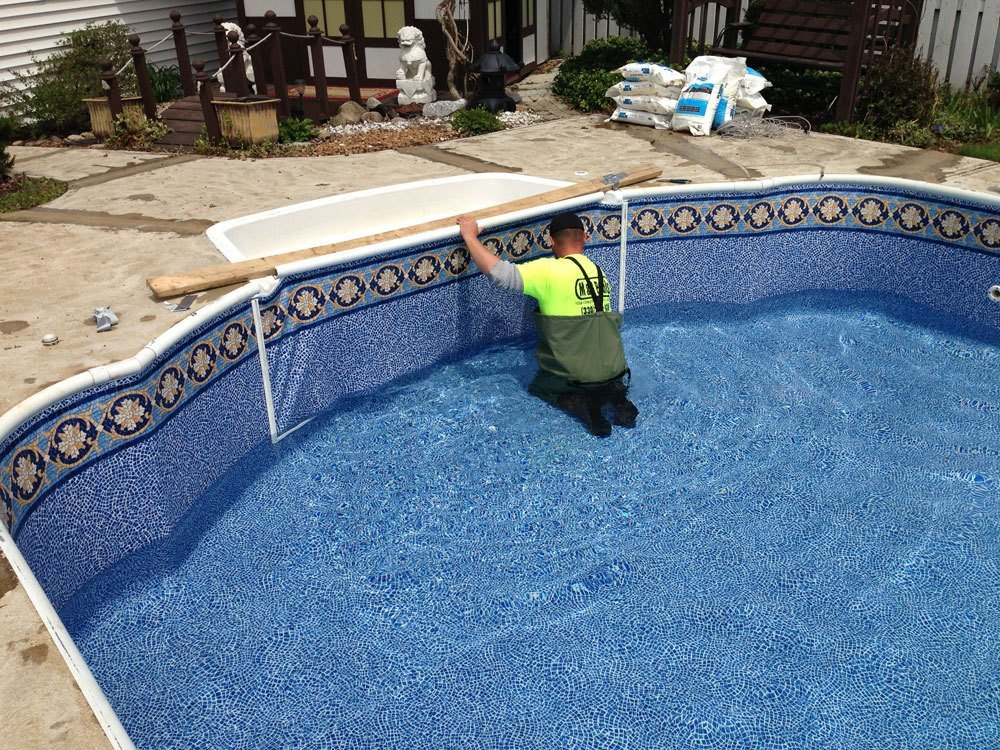 In ground swimming pool maintanence swimming pool liners swimming pool repair in cleveland for In ground swimming pool repair