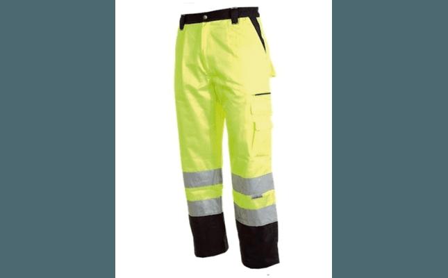 pantalone catarifrangente giallo