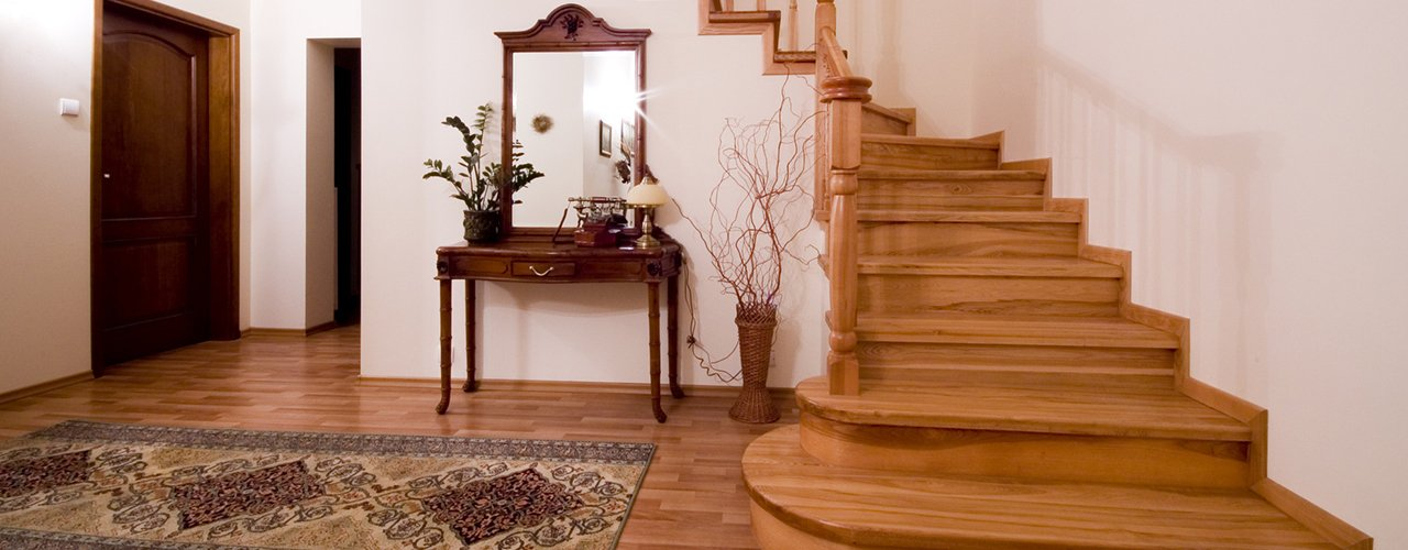 decorative wooden staircase