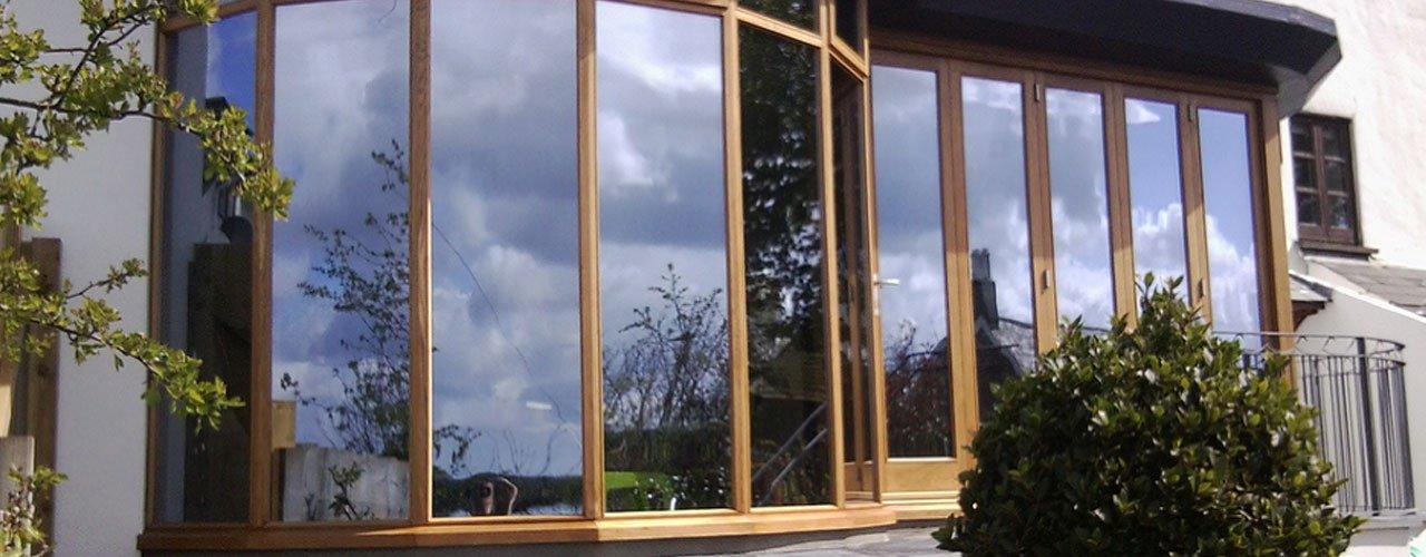 wooden frame windows