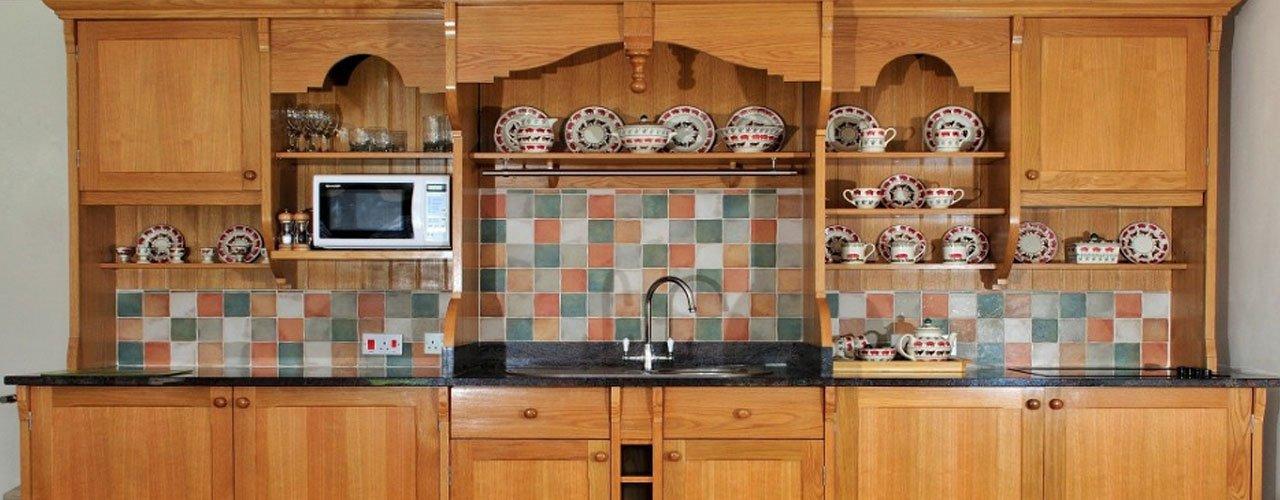wooden kitchen installed