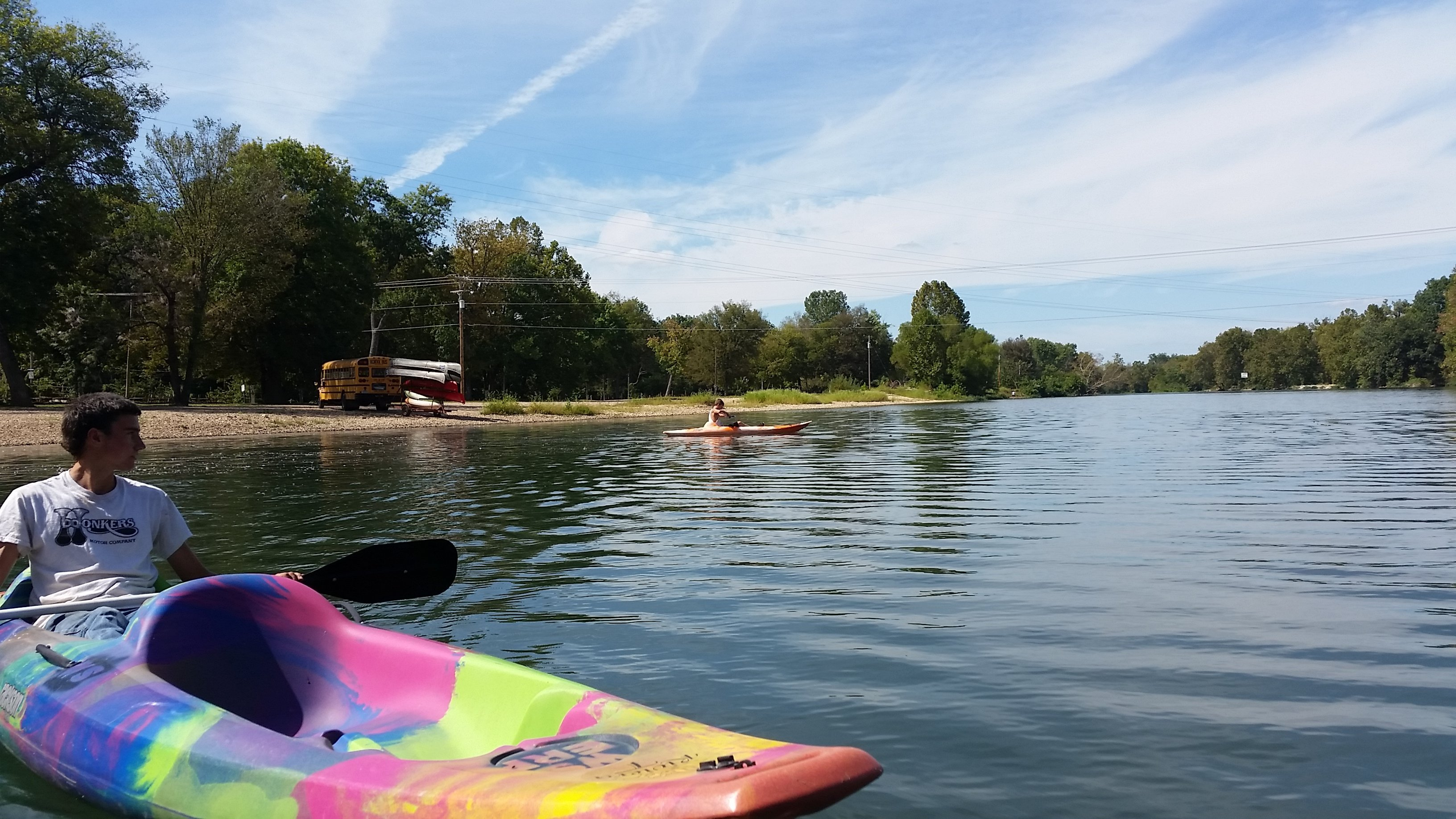 Kayaking on the Elk River, Noel Missouri