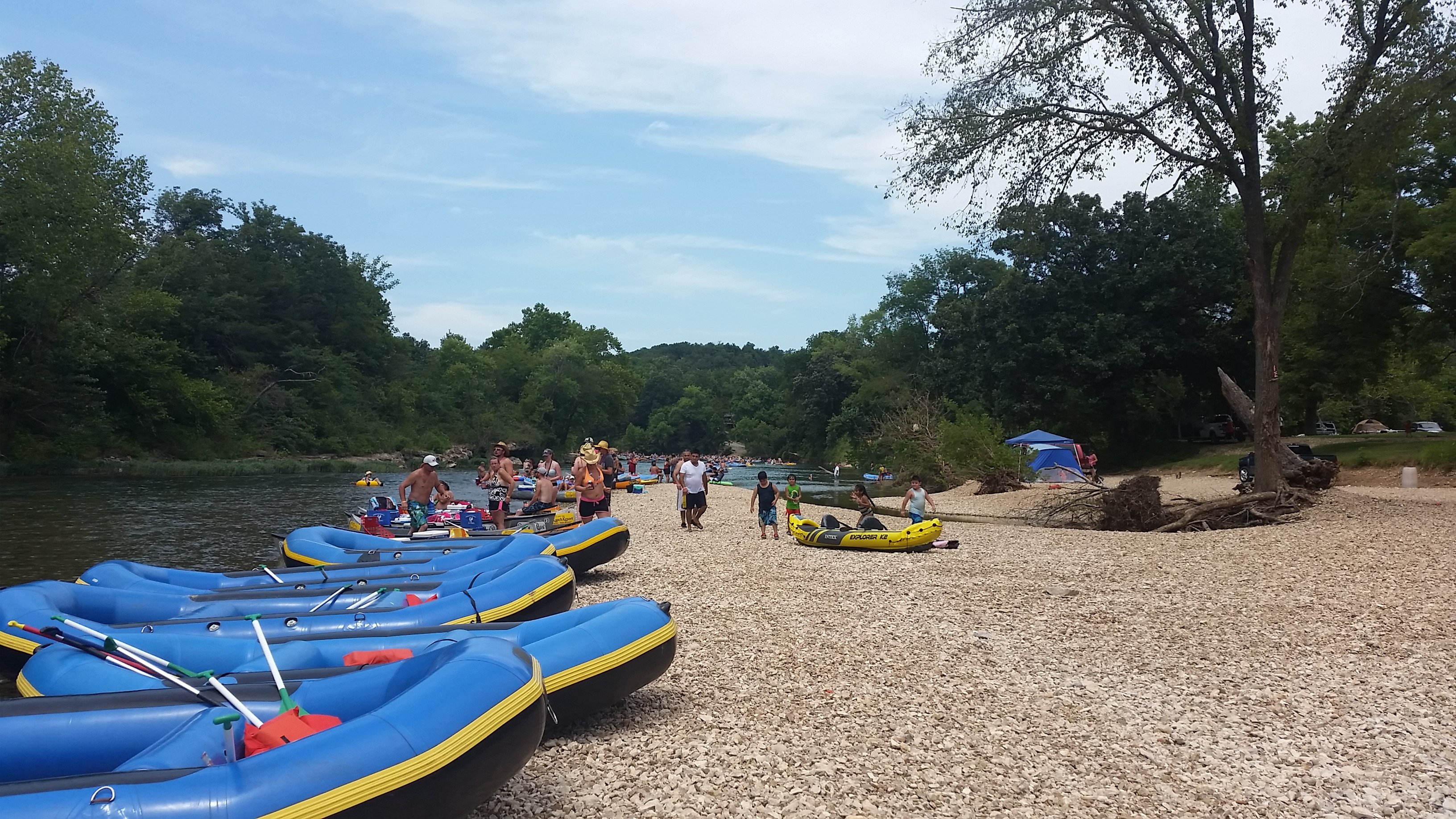 Elk River rafts in Noel, Missouri