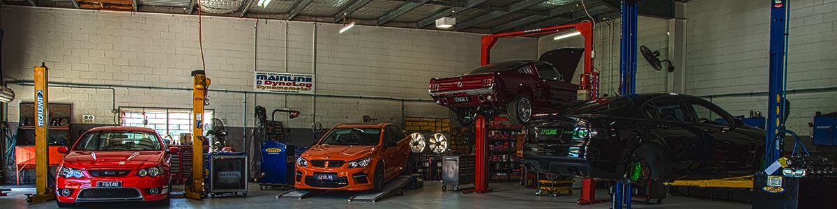 hunter automotive workshop with full of cars