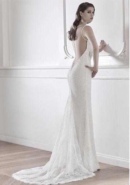 abito bianco ricamato Giulio Lovero