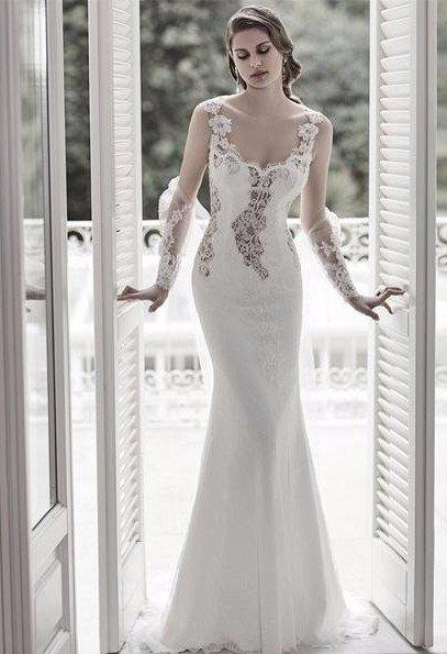 abito bianco ricamato Bitonto