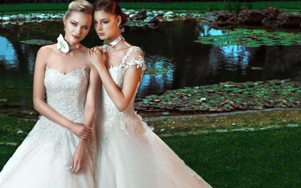 abiti di sposa con maniche in pizzo