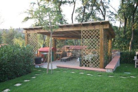 Case in legno, pergolati, verande