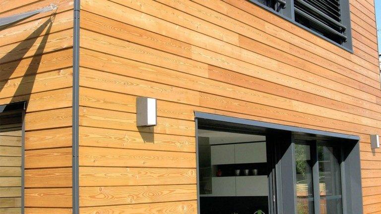 facciata di uno stabile in legno