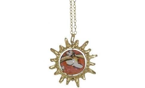 collana sole perle di caltagiorne