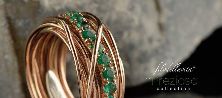 anello filodellavita con pietre preziose