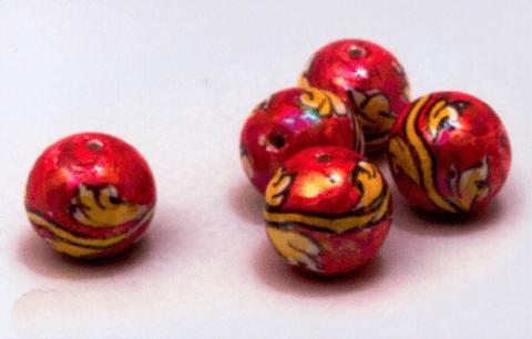perle caltagirone rosso e oro