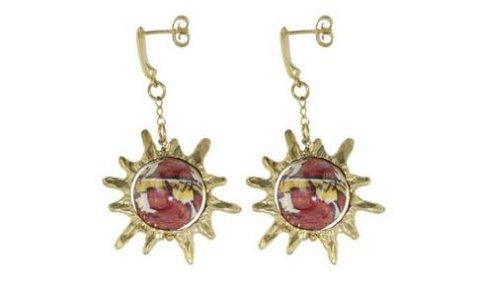 orecchini sole perle di caltagirone