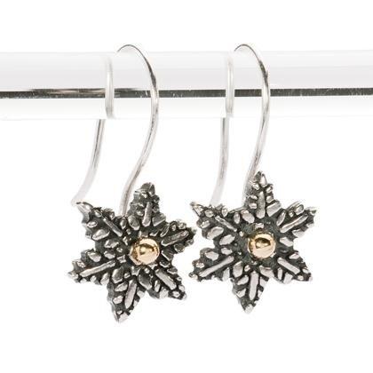 orecchini fiore di neve