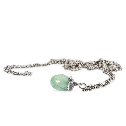collana fantasia con smeraldo