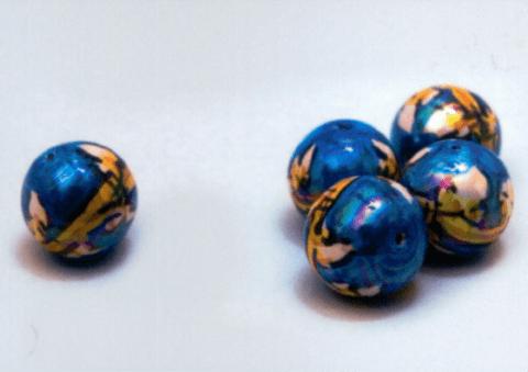 perle di caltagirone blu perlato