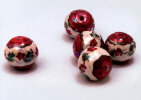 perle caltagirone fiori rossi