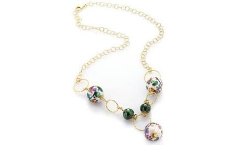 collana  perle di caltagirone