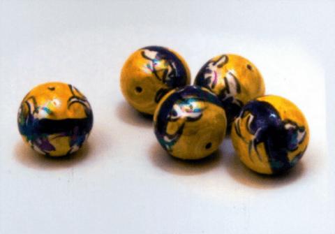 perle caltagirone giallo e blu