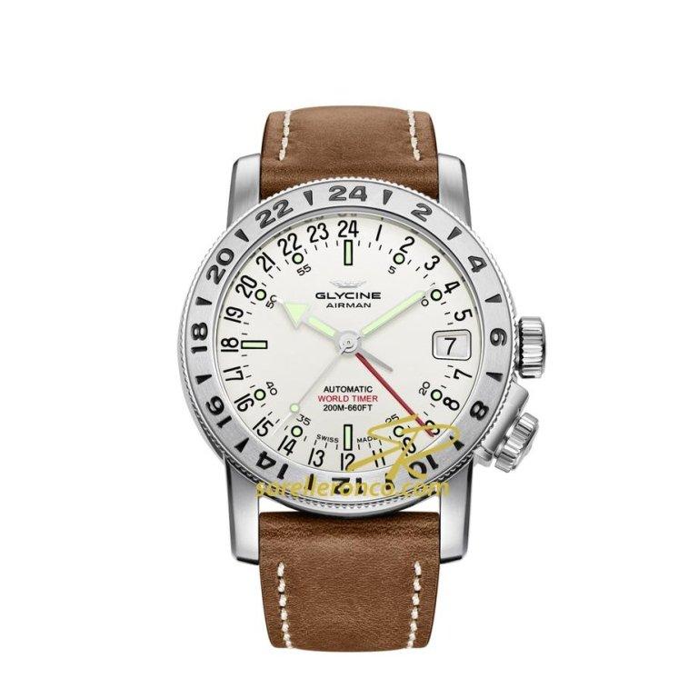 orologio glycine airman world timer