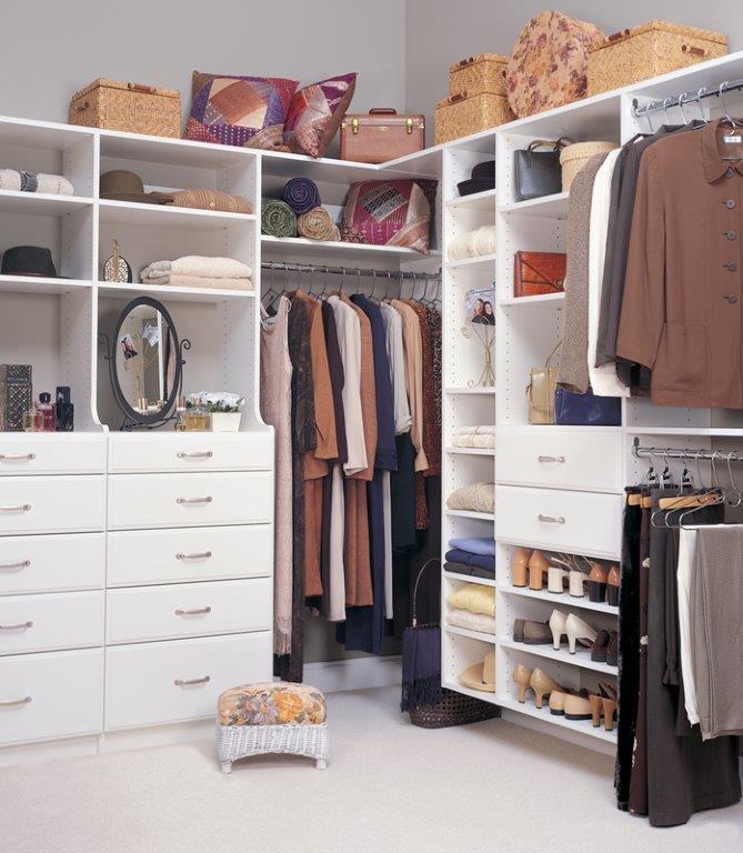 Custom closet reorganization