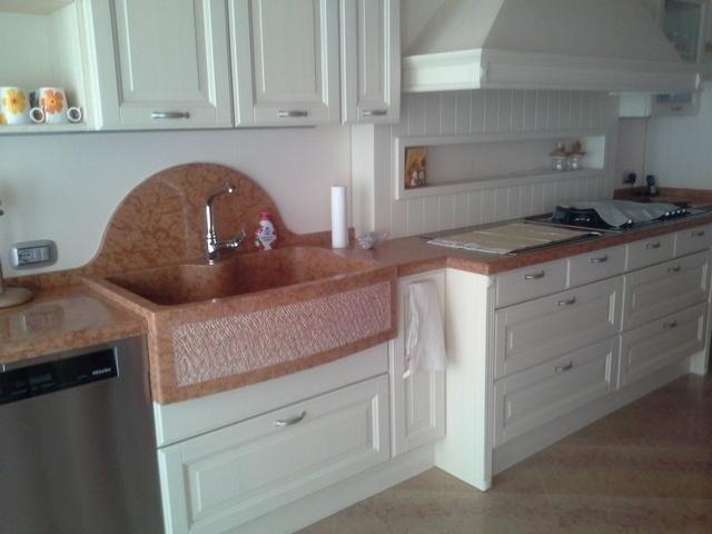 Piano cucina in marmo verona