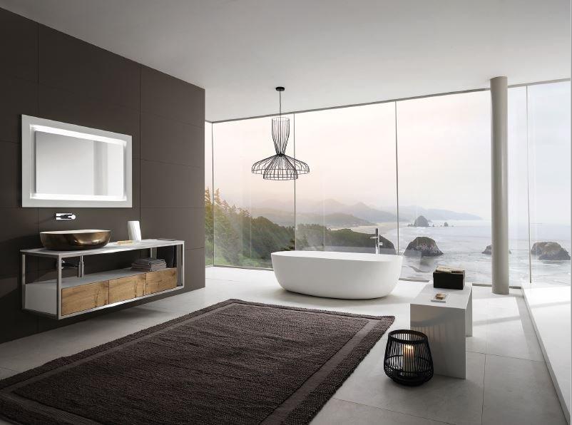bagno con vista sul mare