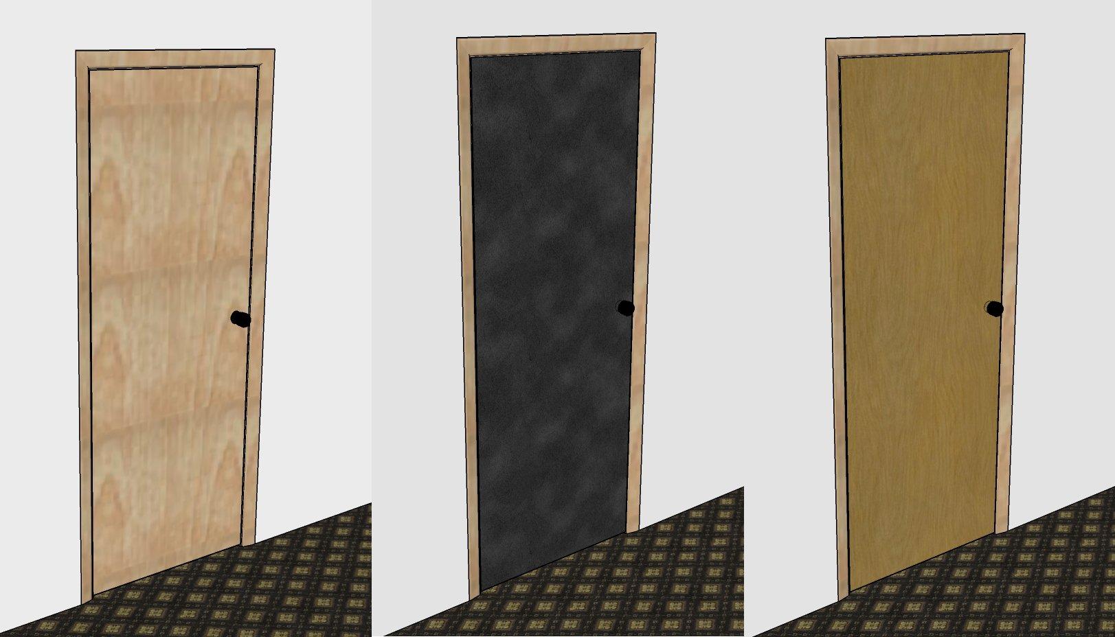 Charmant Original Wooden Door... Layer Of 5mm SoundBarrier Mat.