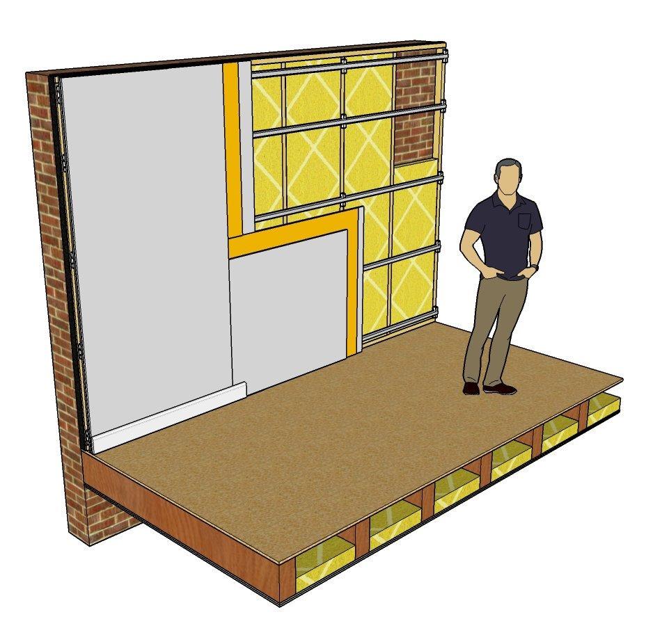 soundproofing a drum room. Black Bedroom Furniture Sets. Home Design Ideas