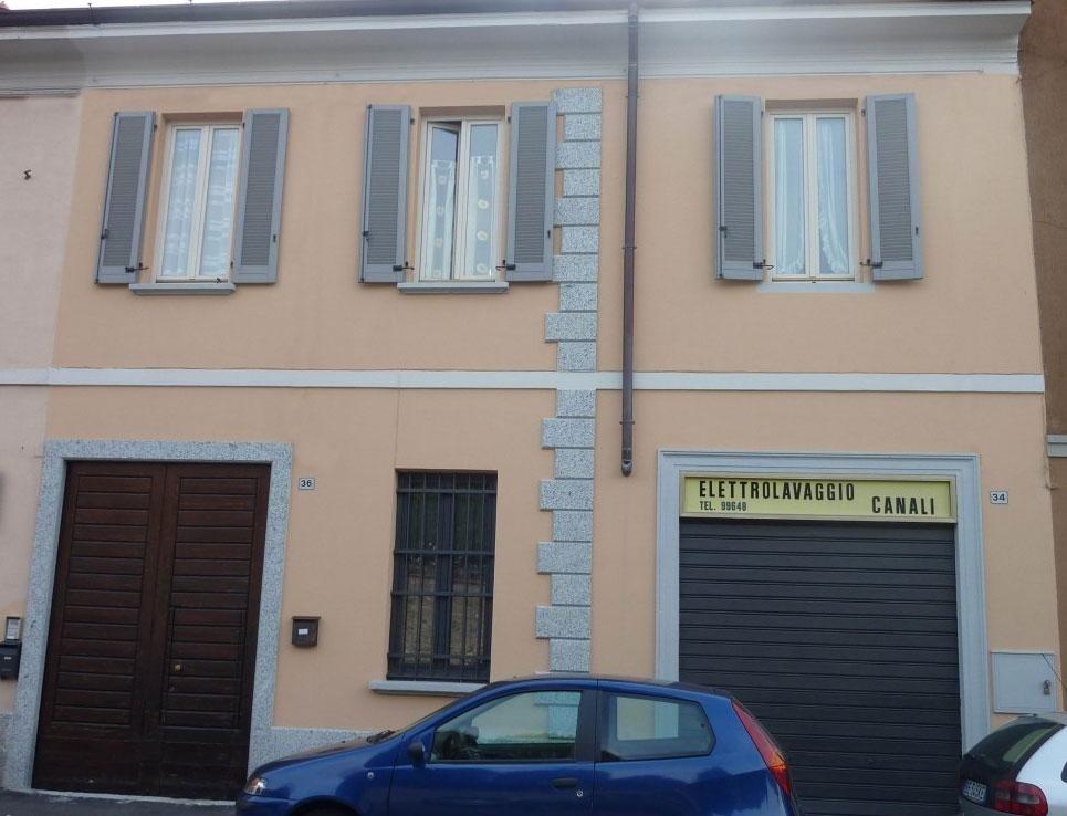 Ristrutturazione facciata centro storico Carate Brianza