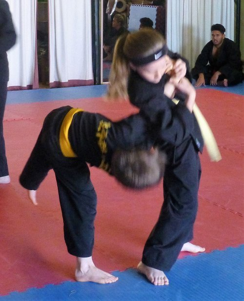 wyong hapkido girl at training