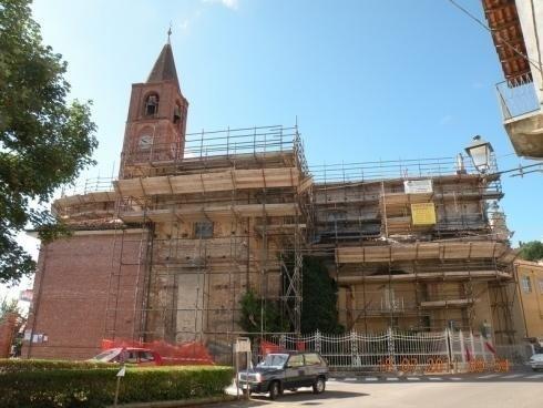 Ponteggi ristrutturazione chiesa cuneo