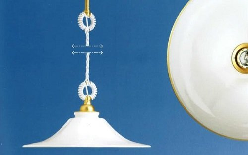 un lampadario bianco a sospensione