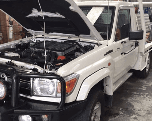 white truck tank replacement