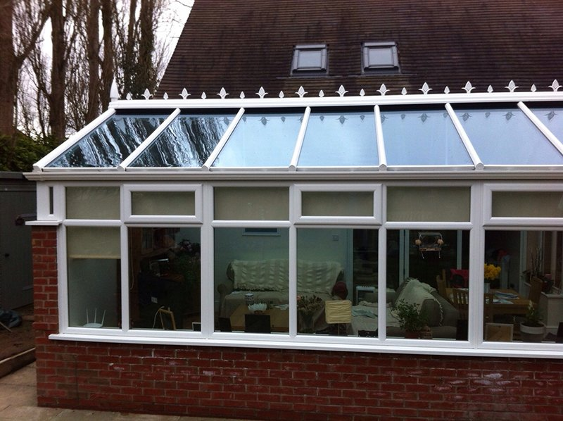 glass roofing and windows