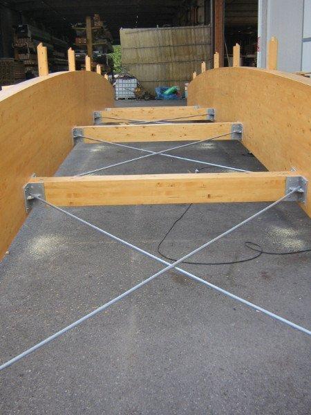 Struttura in legno e metallo
