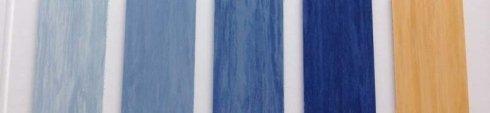 pavimento PVC sfumature di blu