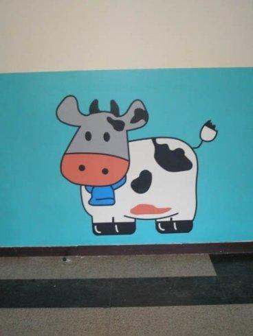 rappresentazione di una mucca