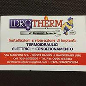 il logo dell'azienda idrotherm