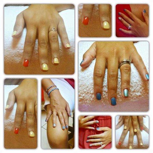 mani con smalto colorato