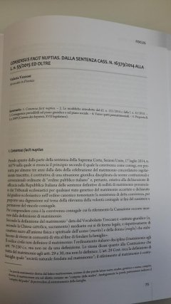 Consensus facit nuptias. Dalla sentenza Cass. n. 16379/2014 alla l. n. 55/2015ed oltre