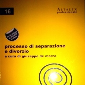 Processo di separazione e divorzio, Altalex 2012