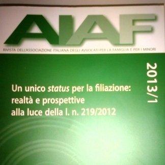 Rivista AIAF 2013 1