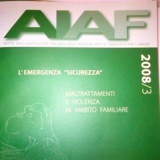 Rivista AIAF 2008, 3