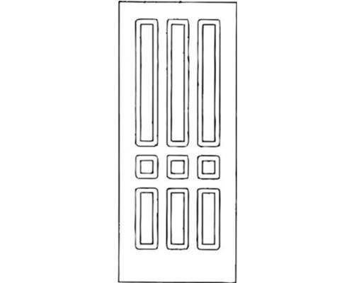 Schema portoncino di ingresso con forme geometriche
