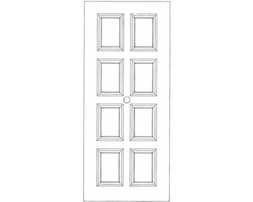 Schema portoncino di ingresso con quadrati