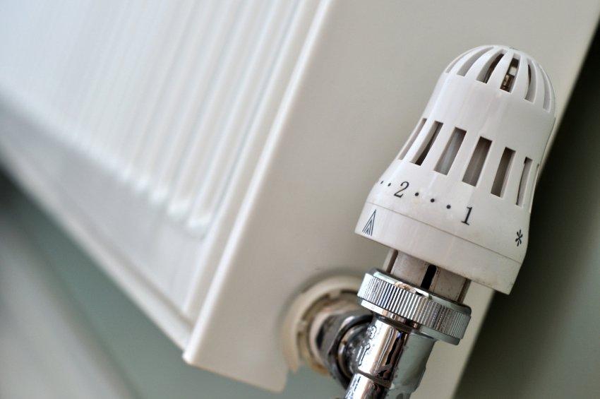 close up of radiator thermostat