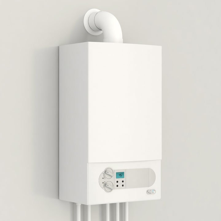Close up of a conventional boiler